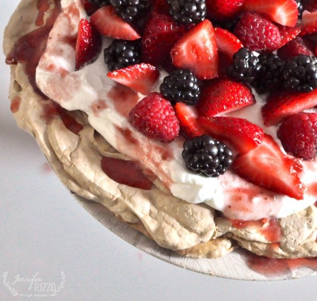 Berries on a Pavlova