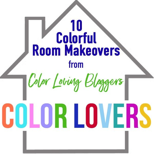 Gray and coral family room makeover