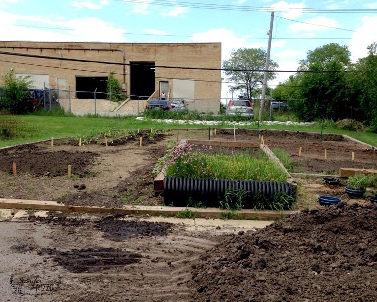 Food pantry community garden