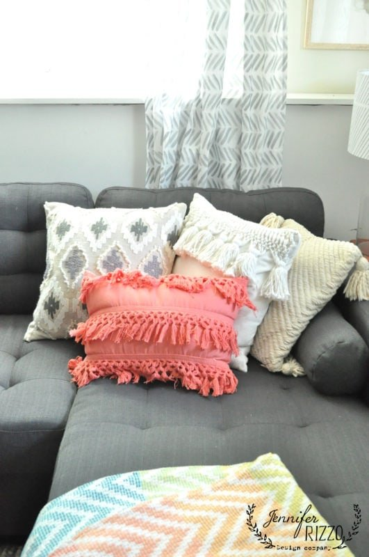 Pillows to add a touch of color