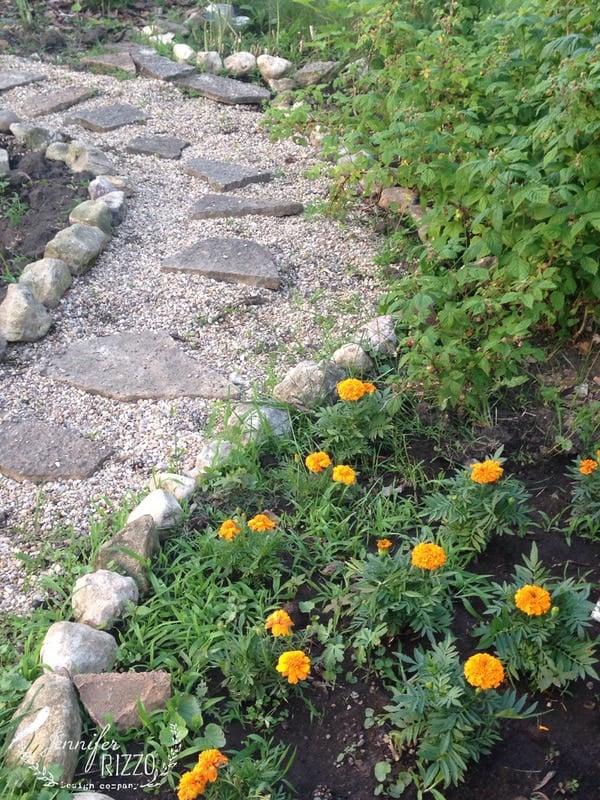Pea gravel path changes