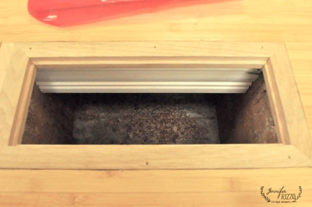 Air duct after debris cleaning