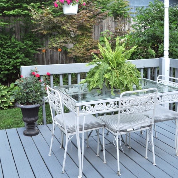 Painted deck refresh with porch and deck paint