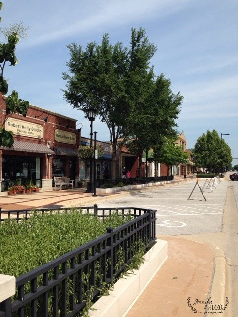 Downtown Lisle Main street view a our little town