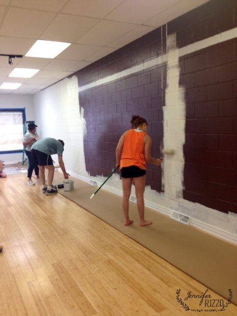 Painting the eggplant walls