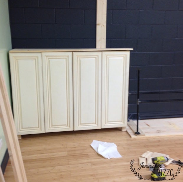 Converting cabinets to free standing units