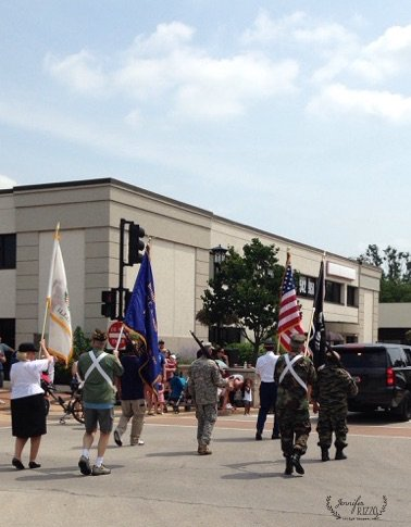 Marching the 4thof July in Downtown Lisle