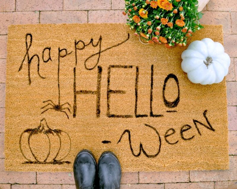 Happy hello-ween door mat at The Collective lhe