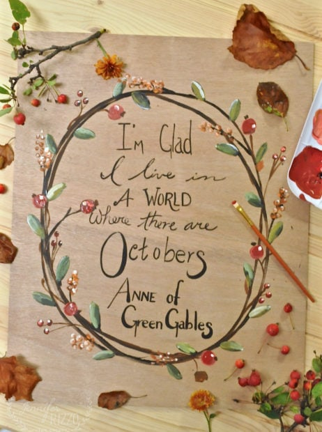 Anne of Green Gables Ocotber quote