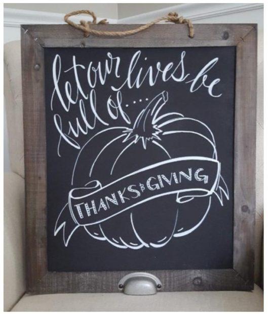 Handmade chalkboard by Julie Norkus