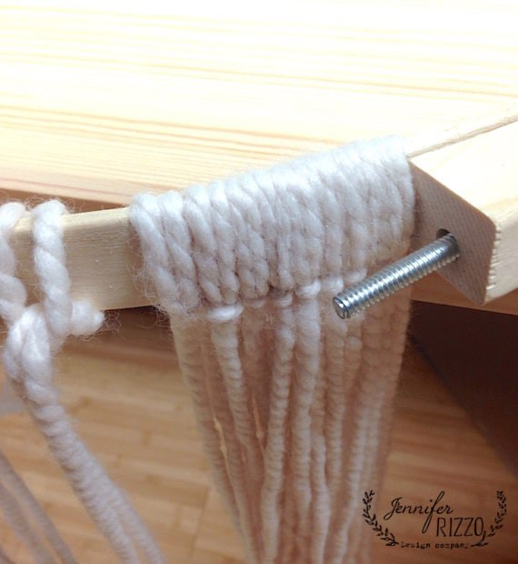 Looping yarn for fringe embroidery hoop hanging