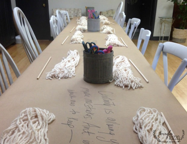 Workshop set up for Makery classes at the Collective lhe in Lisle, IL