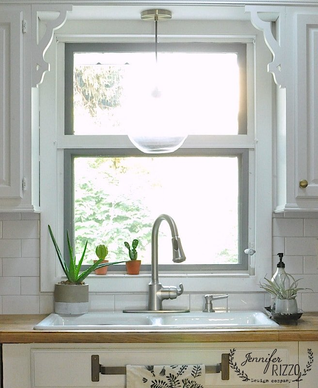 Up Close Kitchen Window Pendant Light