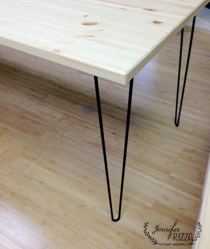 DIY hairpin leg tables