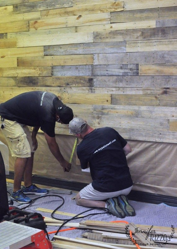 Mypallet wall installing a wood pallet wall