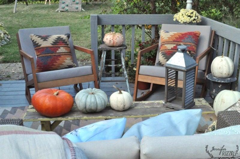 Back yard in early fall