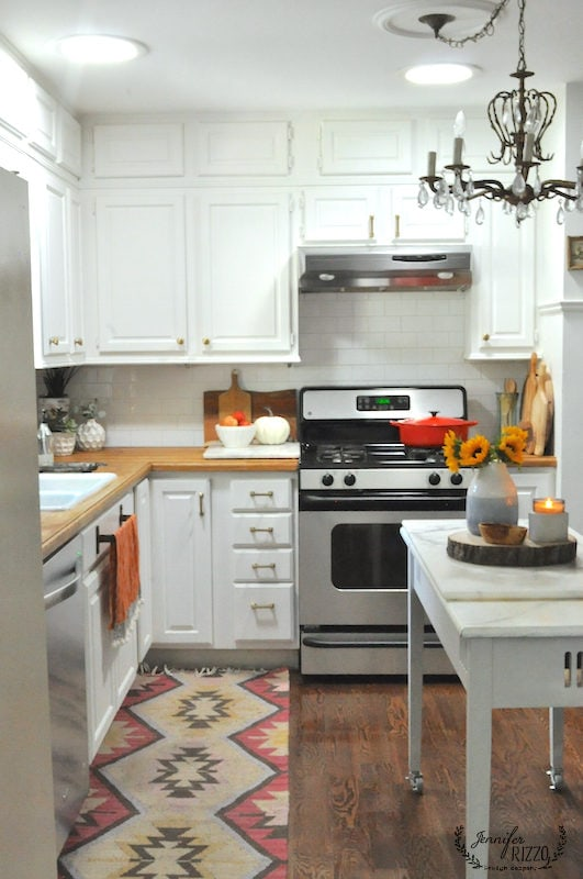 Jennifer Rizzo kitchen with early fall touches.