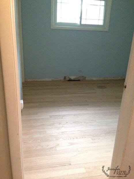 Sanded bedroom floors