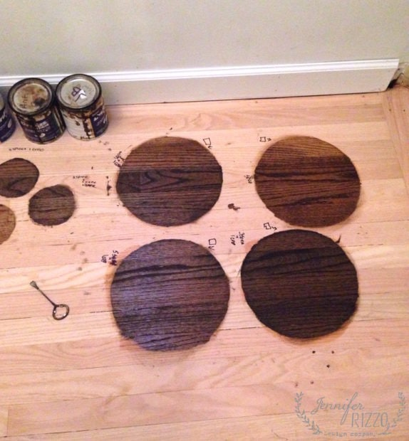 Custom stain color for hardwood floors