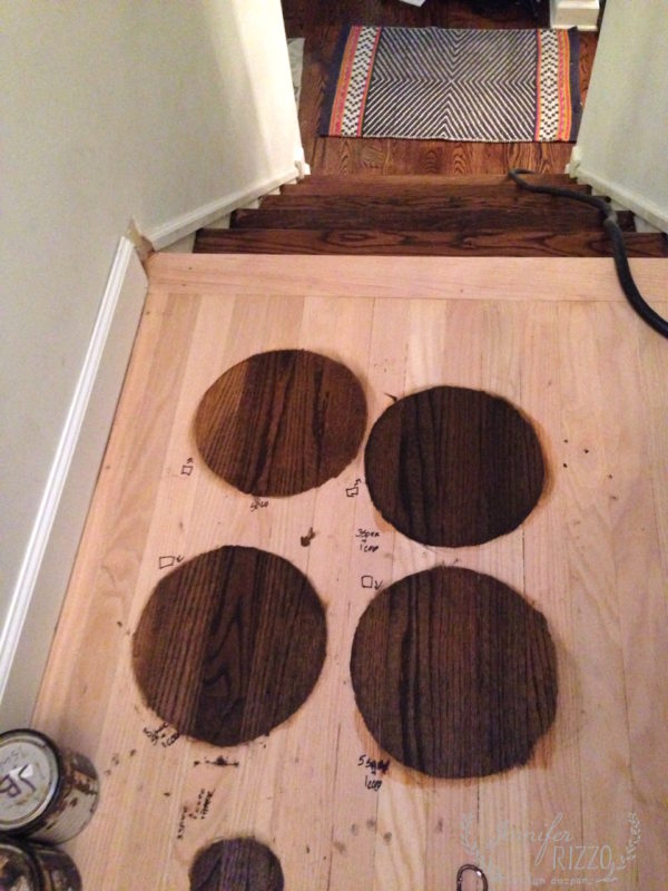 Custom mixing stain to match old floors