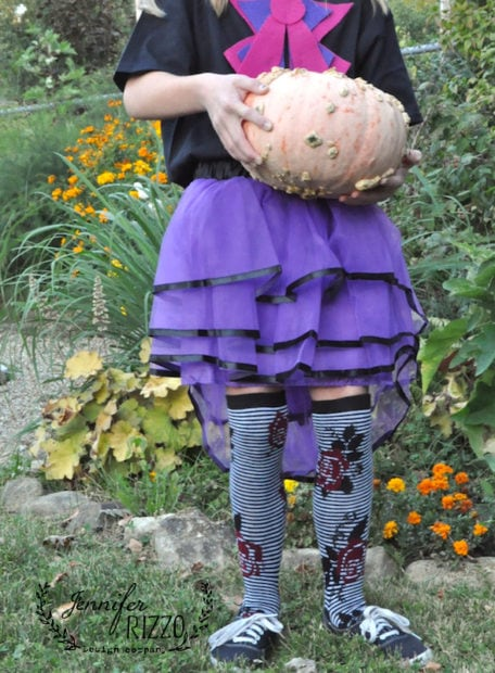 Easy tulle skirt Mad Hatter costume