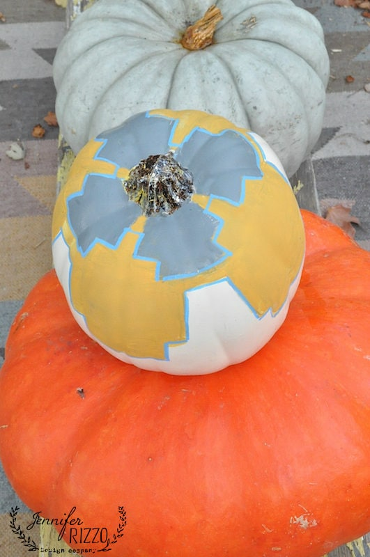 Painted killim inspired pumpkin- painted ideas for pumpkins