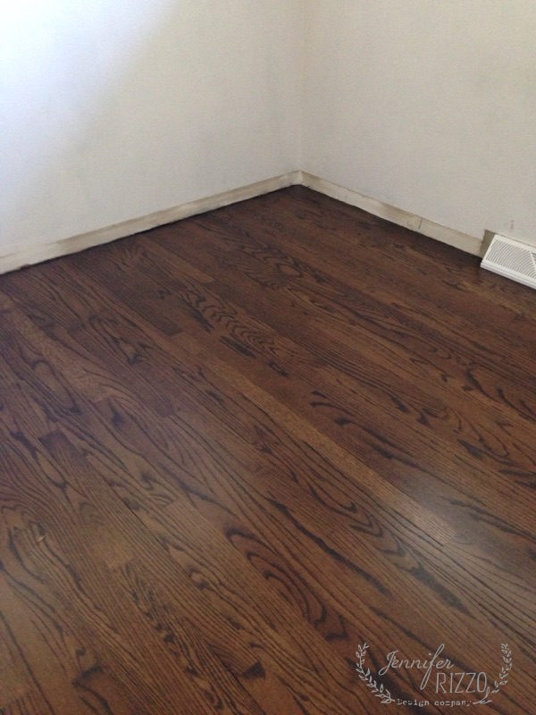 refinished wood floors stained dark
