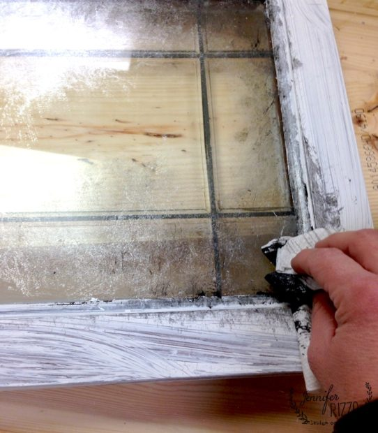 Dab On A Paint Mixture Of To Make Faux Mercury Glass Mirror