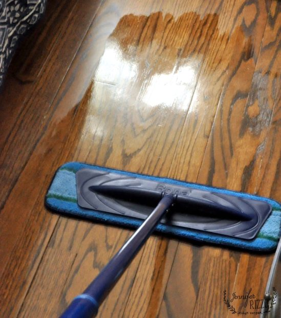 Deep clean microfiber mop and cleaner for hardwood floors