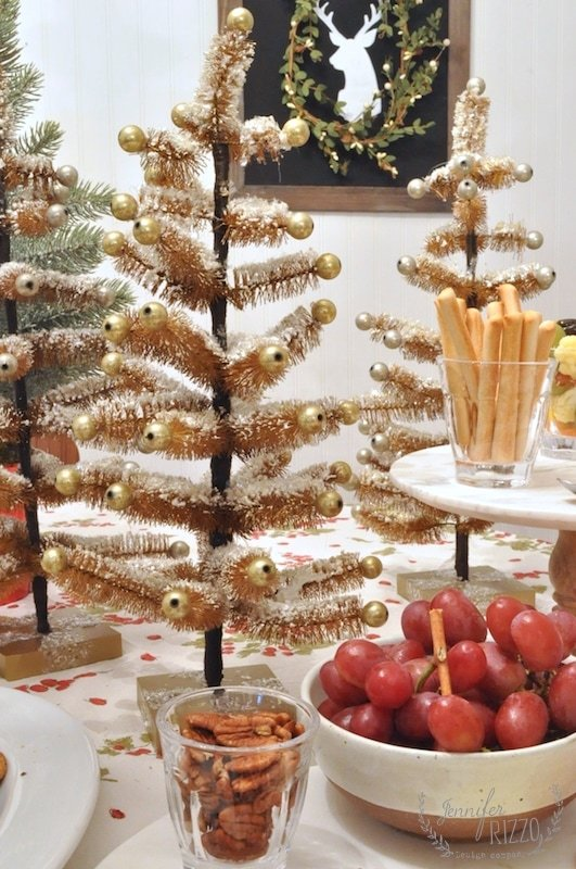 Bottle brush trees for tablescape decor and party decor
