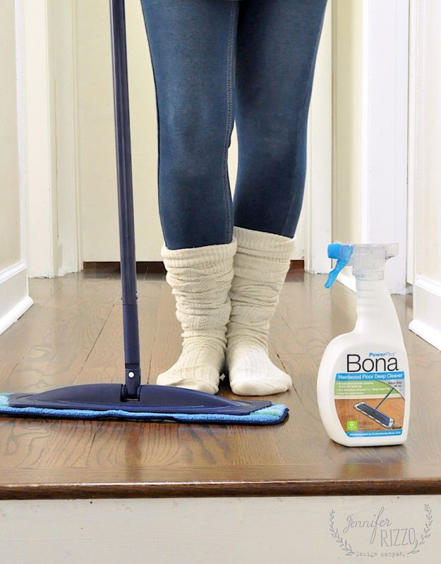 Cleaning our hardwood with the Bona PowerPlus Deep Clean system