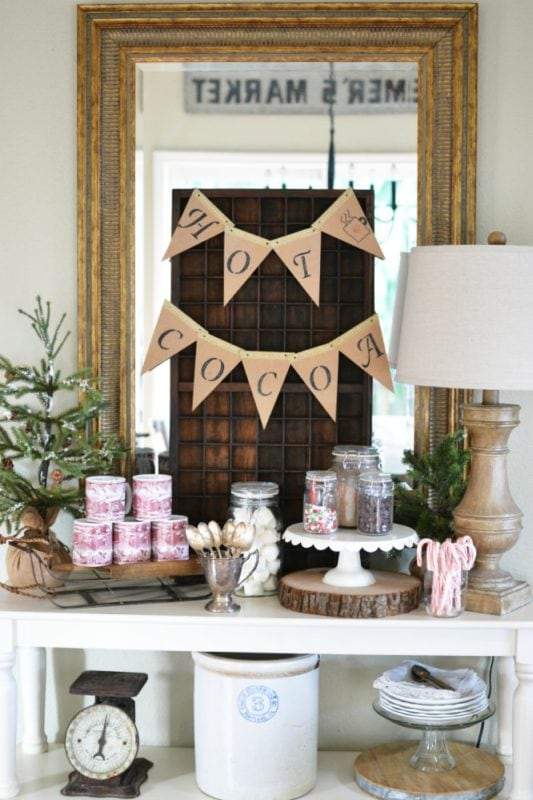 At The Picket Fence how to create a hot cocoa bar