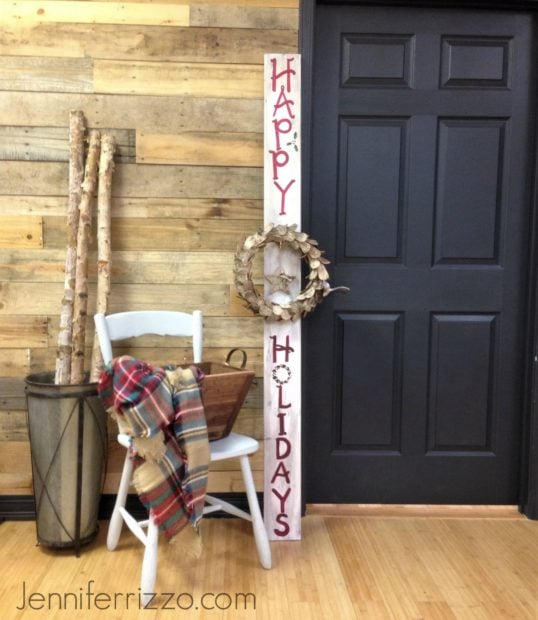 Front porch holiday sign at The Collective lhe and Makery in Lisle,IL