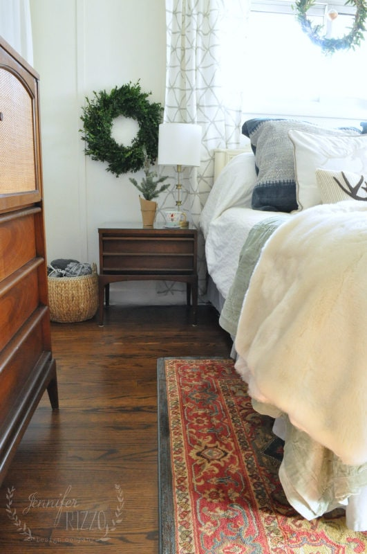 holiday bedroom with Kilim rug