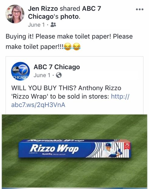 Things I say on Facebook Rizzo wrap