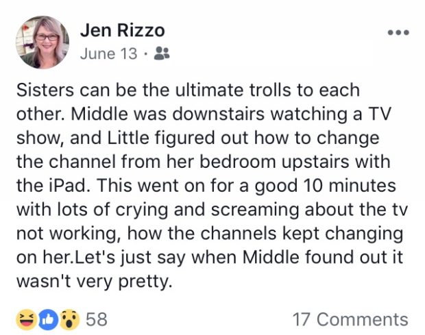 Things I share on Facebook Jennifer Rizzo