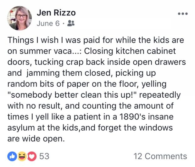 Things I say on Facebook Jennifer Rizzo