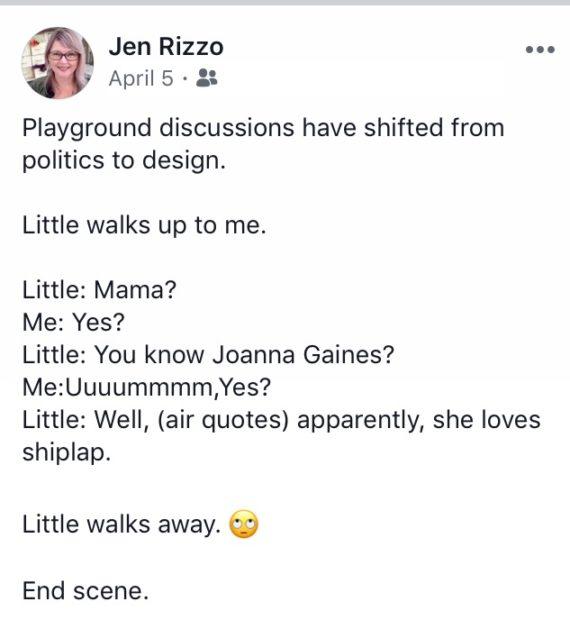 She said on FB Jennifer Rizzo