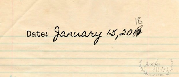 How I'll be writing the date for the next 2 months of 2018