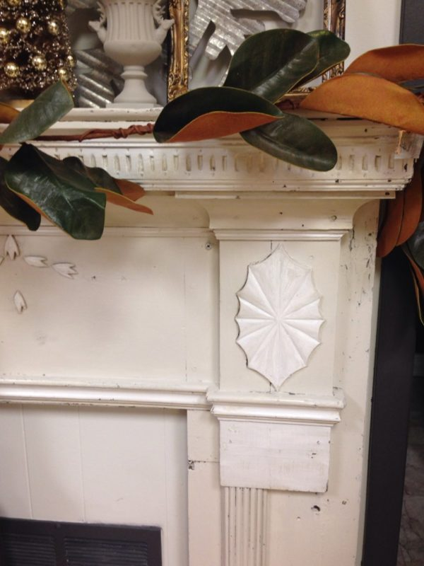 Old fireplace mantel