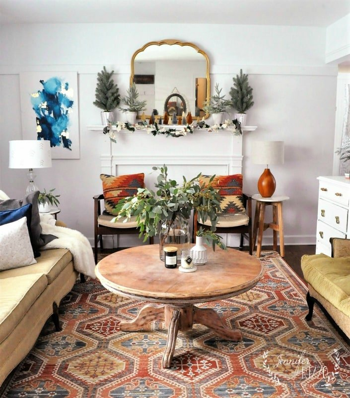 Mid winter living room decor jennifer rizzo - Mid century modern home decor ...