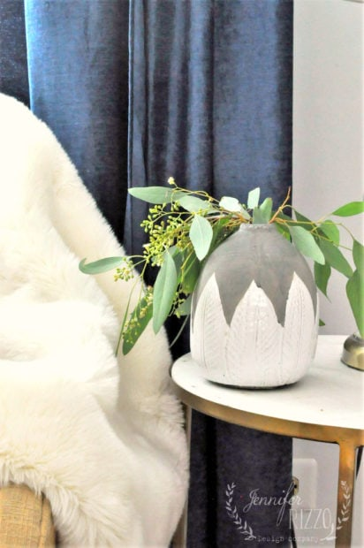 Boho vase with eucalyptus from The Collective lhe and makery in Lisle