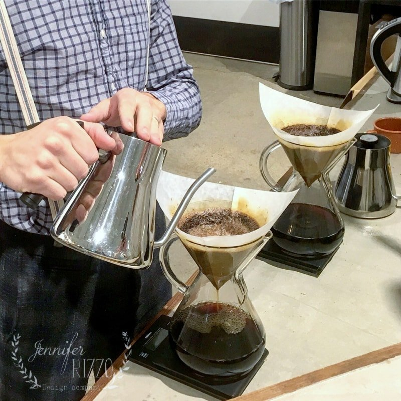 Pour over coffee at the Dallas Market