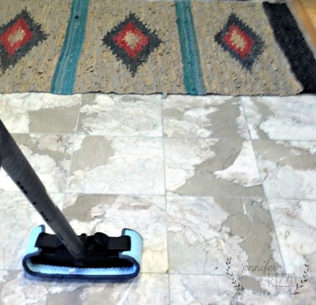 Steam cleaning tile floors