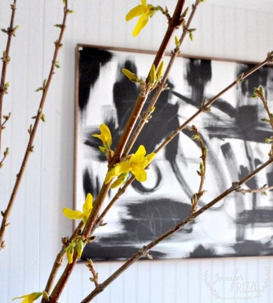 Blooming forsythia