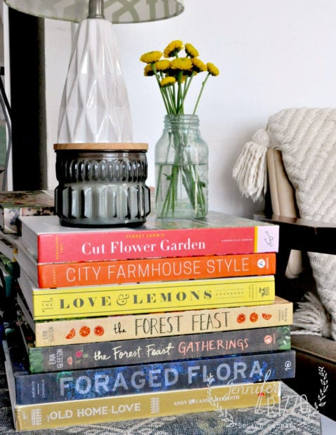 Book stack as a side table #goodreads