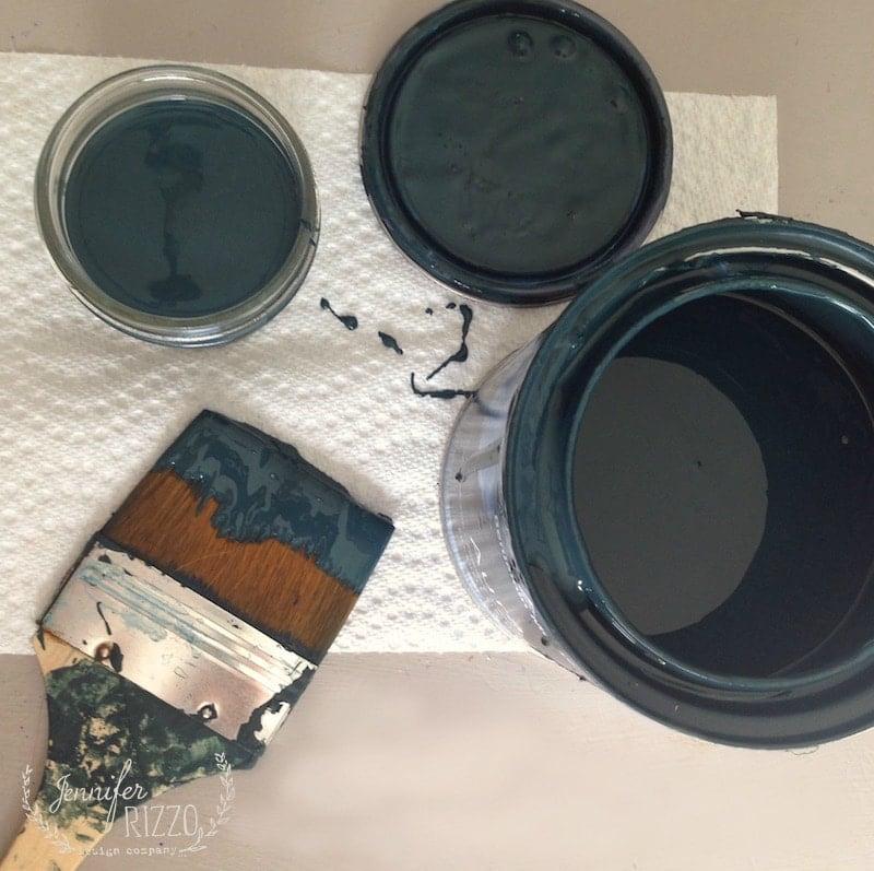 Dark Green Paint-My Painted Kitchen Hutch
