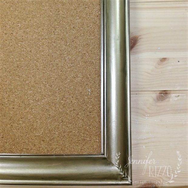 Add pre-made cork board into a frame