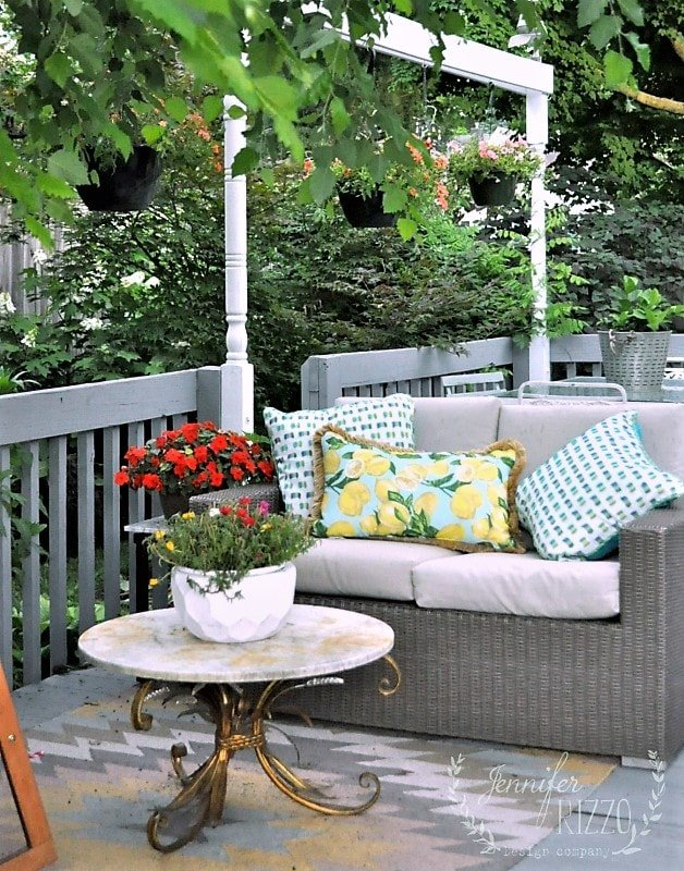 Treat outdoor seating areas like second living rooms