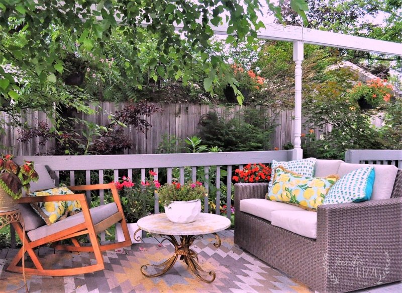 Treat your outdoor seating areas like second living rooms